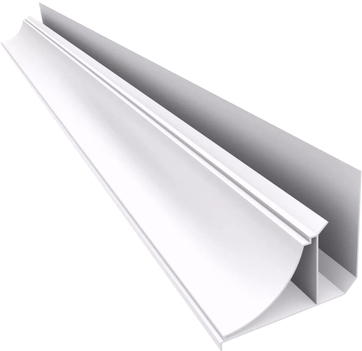ANGULO PERIMETRAL PVC 6 Mts BLANCO