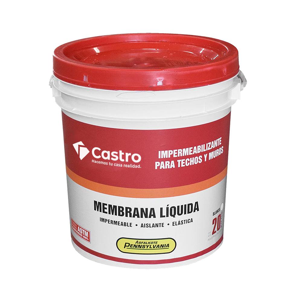 MEMBRANA LIQUIDA CASTRO BLANCA 20 KG.
