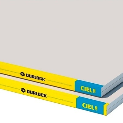 PLACA YESO DURLOCK CIELORRASO 7 MM / 1.20x2.40 MTS
