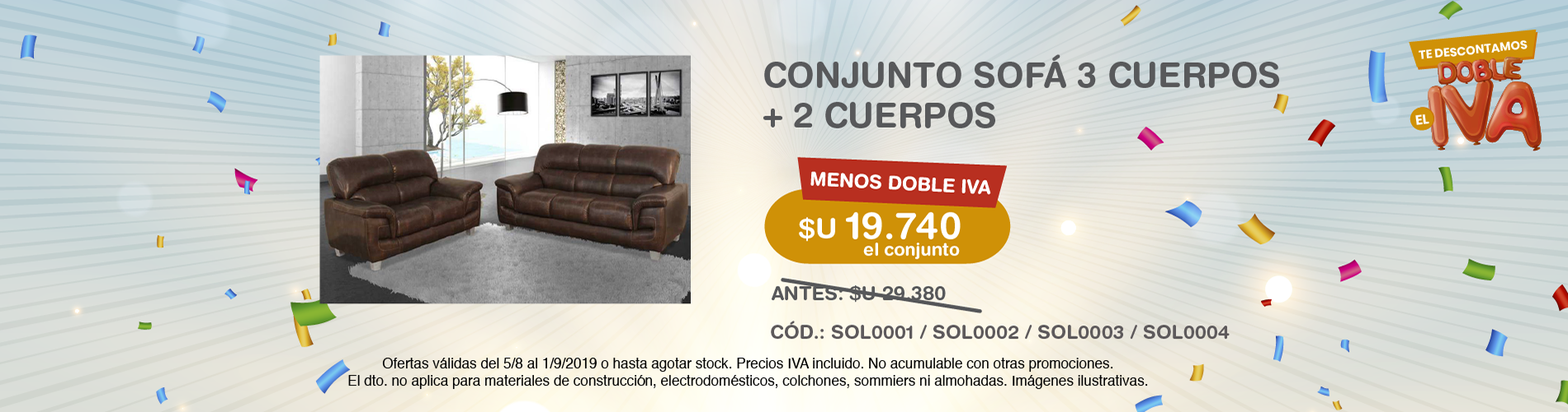 iva doble iva sofa lucy